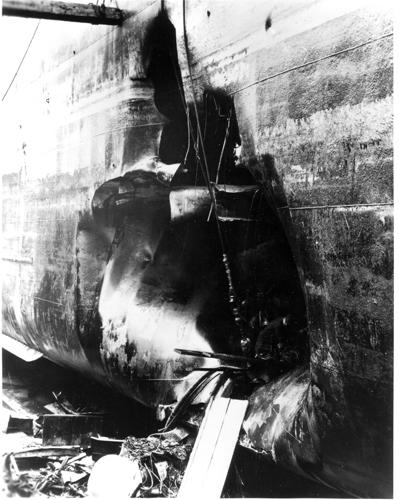 пробоина от торпеды