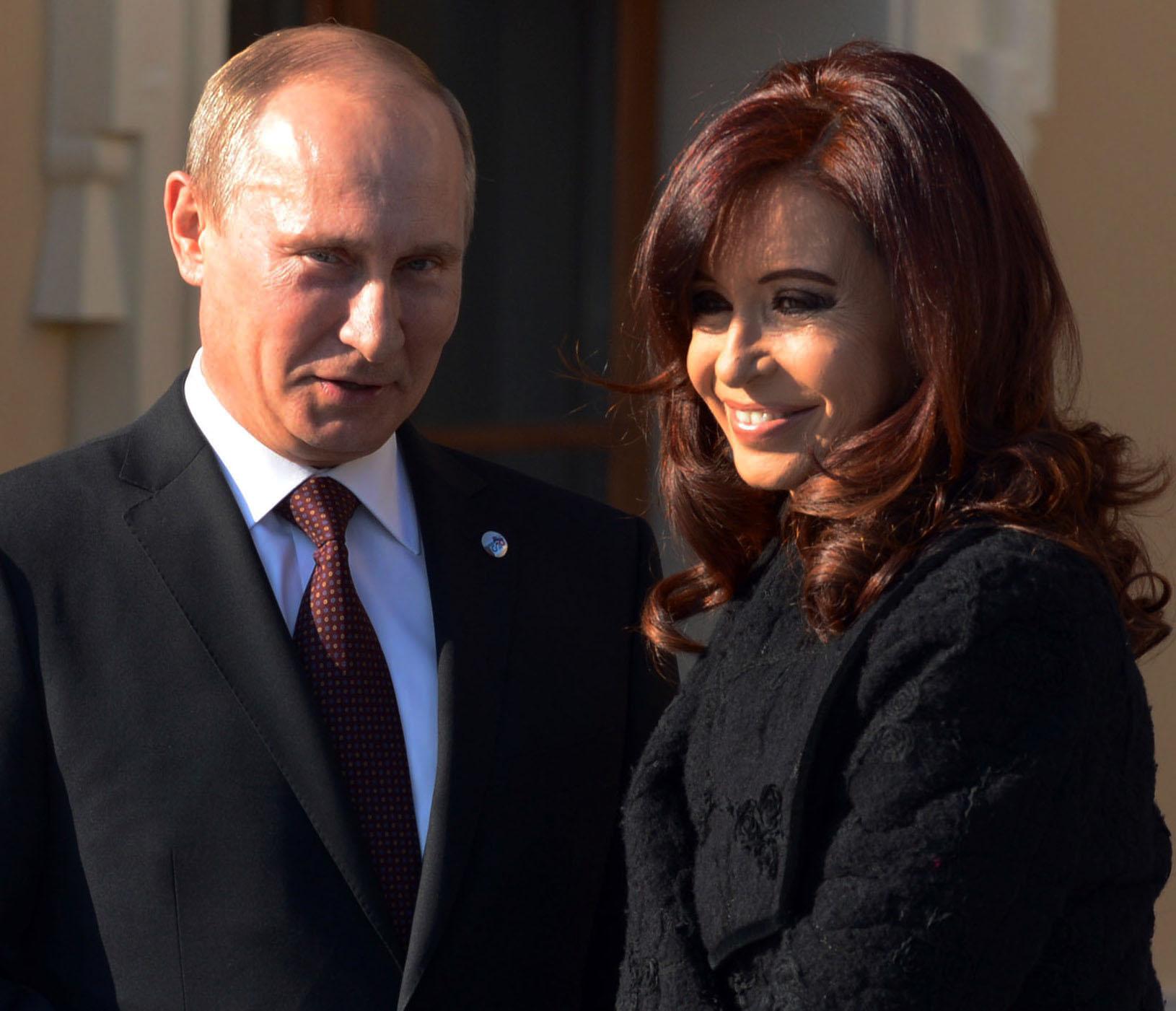 Путин и Киршнер в Санкт-Петербурге
